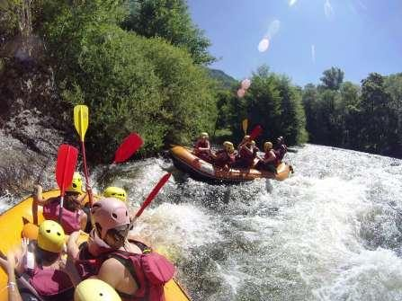 rafting groupe auvergne