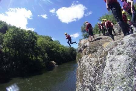 saut de rochers